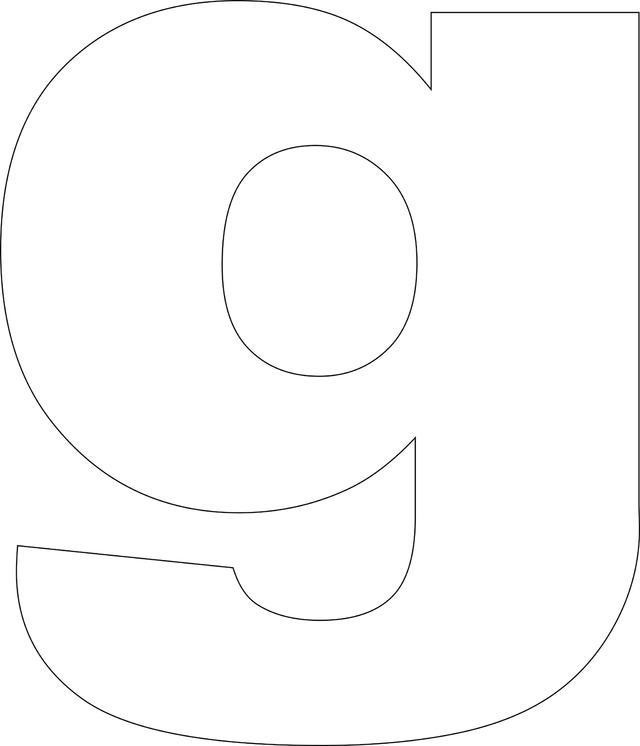 7 best images of printable large alphabet block letter g
