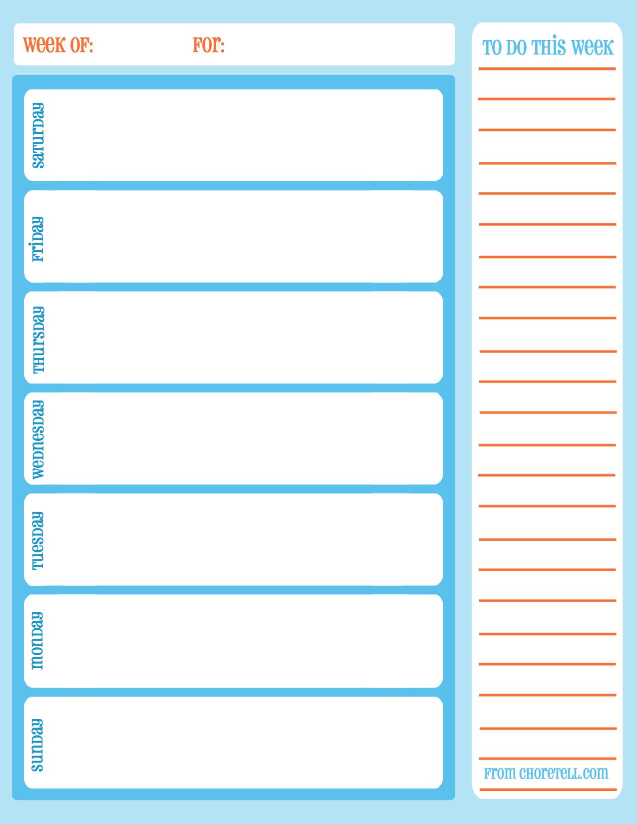 11 Images of Printable Weekly Task Schedule