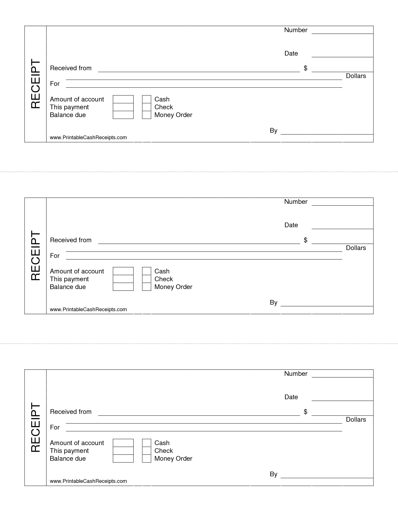 9 Images of Printable Cash Receipt Template