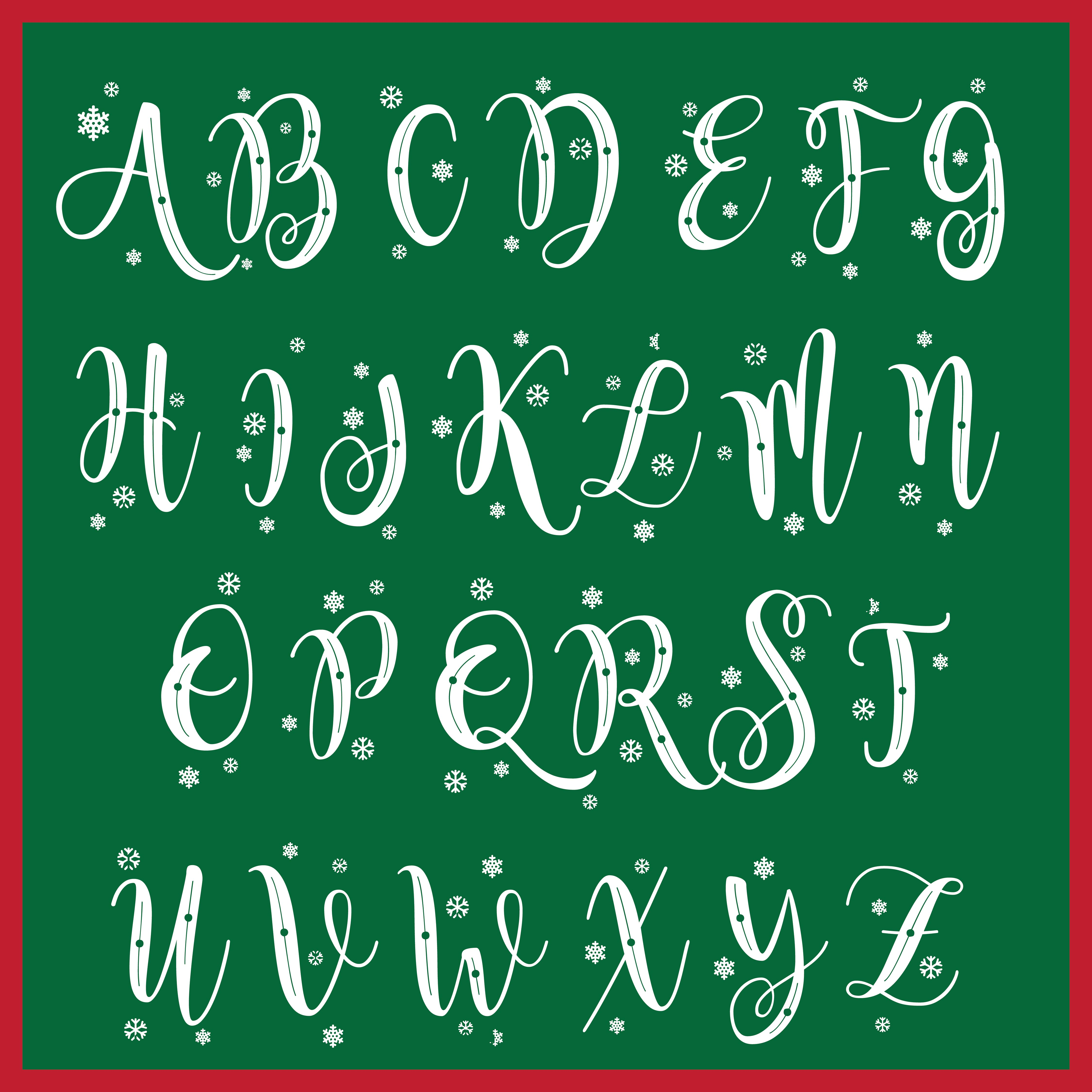 9 Images of Free Christmas Printable Chalkboard Letters