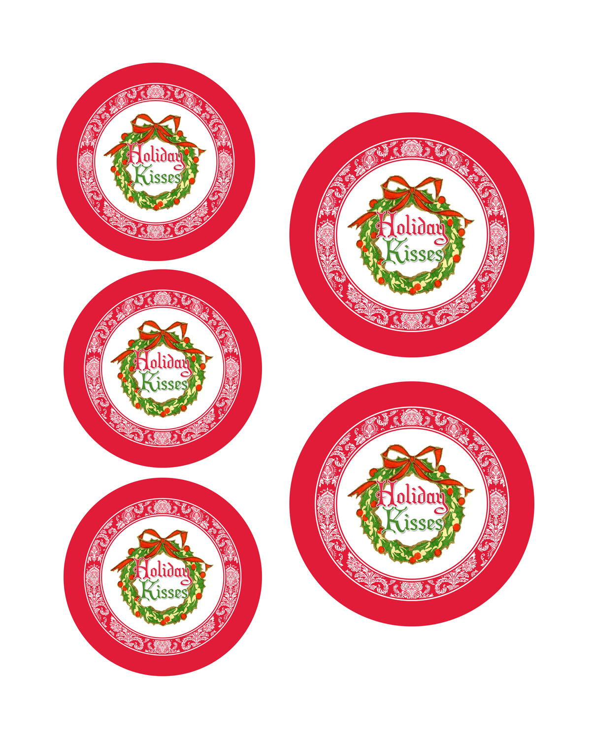 Free Printable Christmas Mason Jar Lid Labels