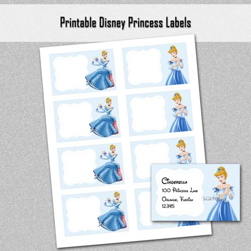 Free Printable Disney Princess Food Labels