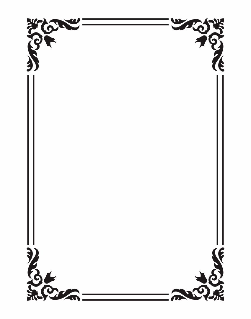 Printable Frame Templates