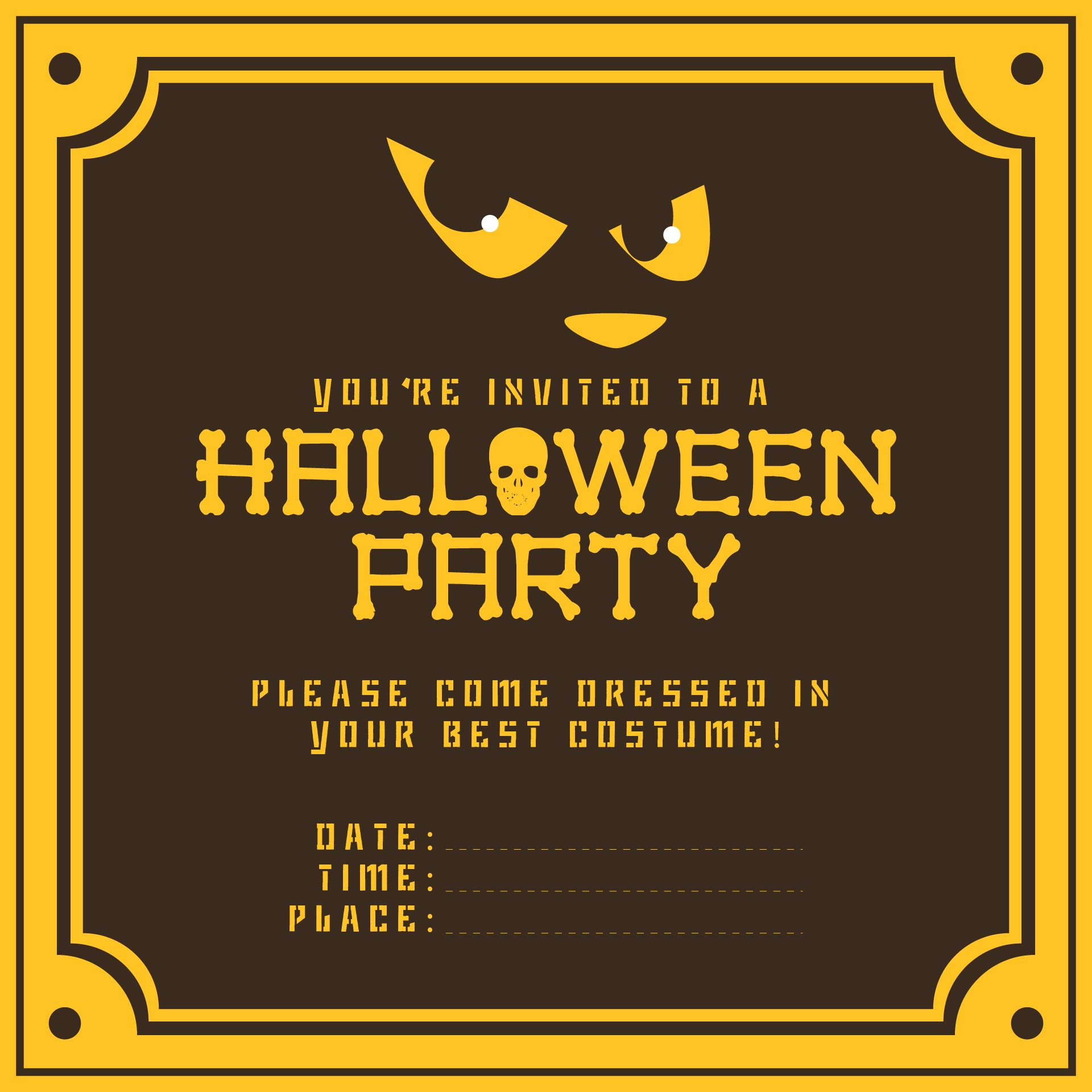 8 Images of Free Printable Halloween Invitations Ideas
