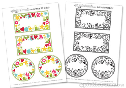 8 Images of Free Christmas Printable Jar Labels