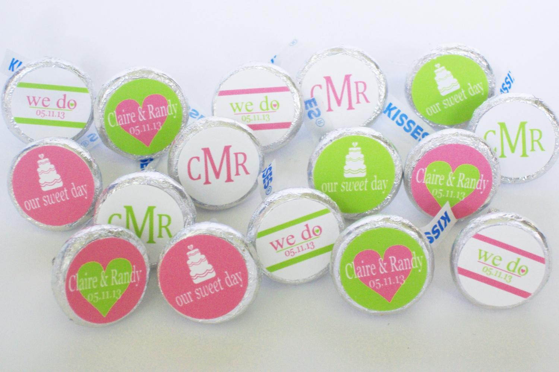 Printable Kisses Stickers Wedding
