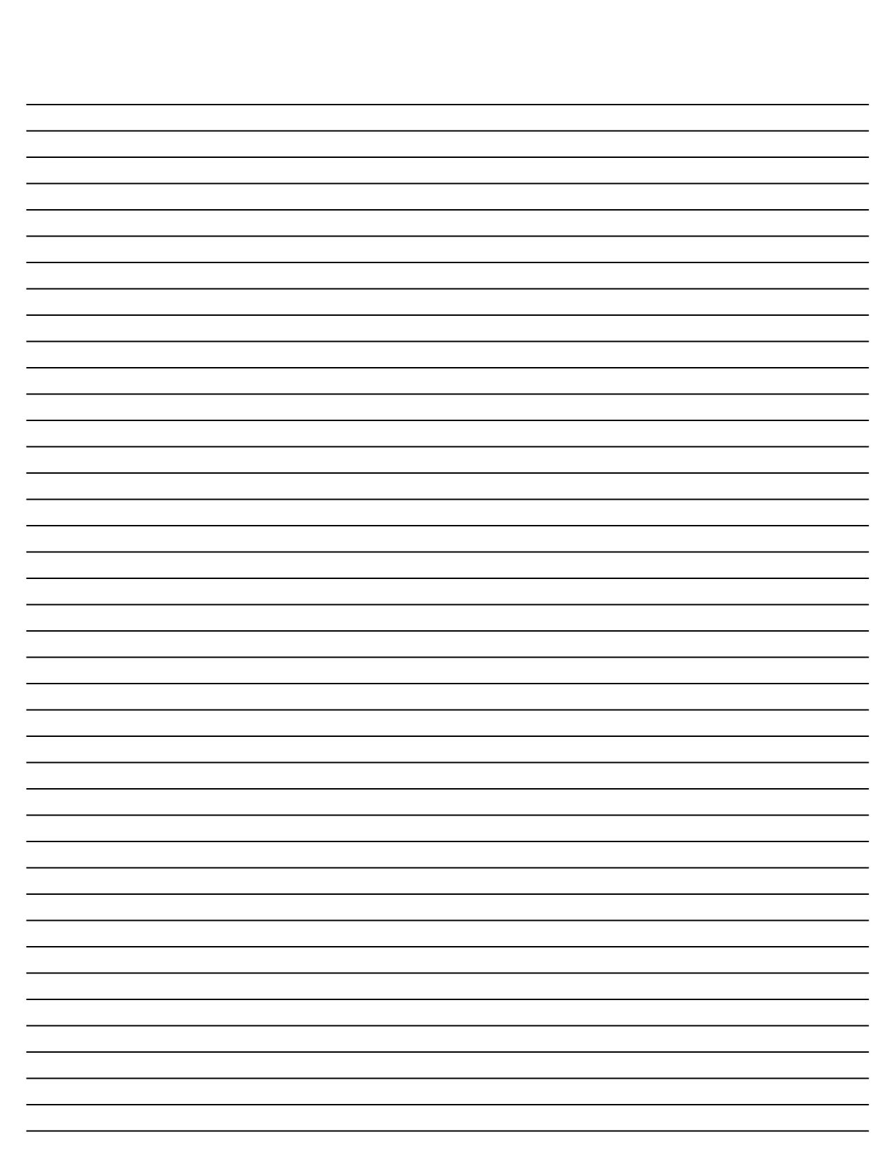 Free Printable Lined Writing Paper Template