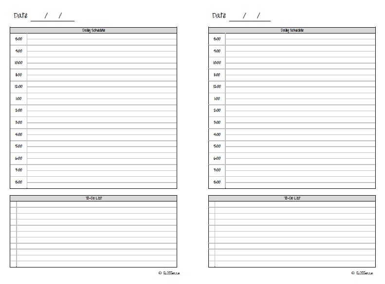 5 Images of Two Ring Printable Agenda Pages