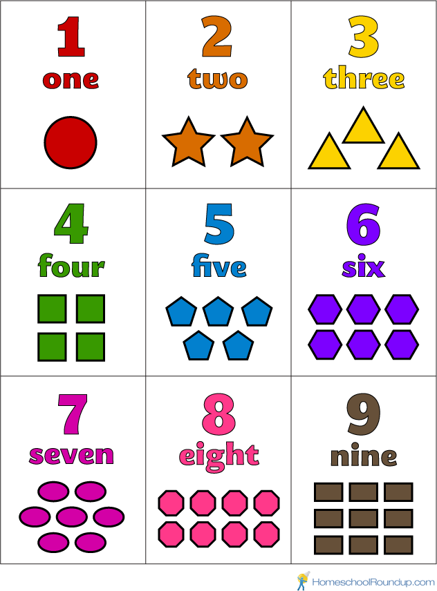 7 Images of Printable Number Flash Card 1