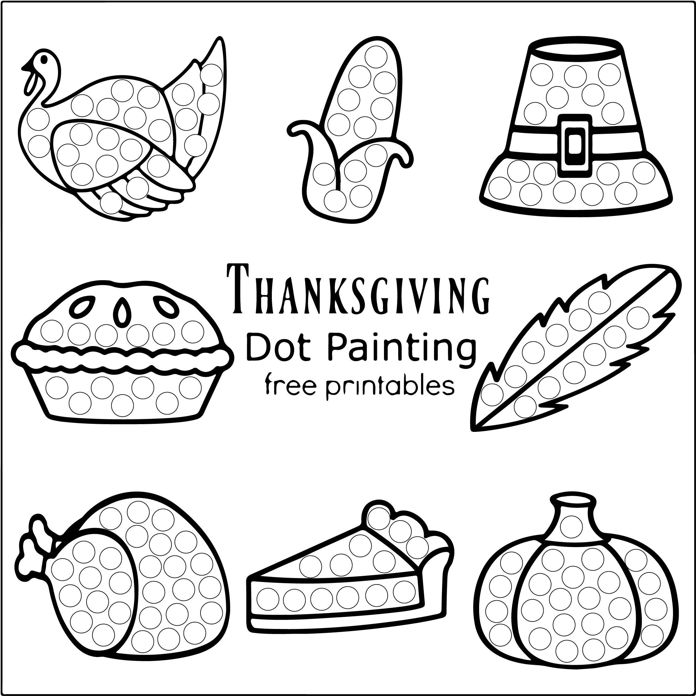 Printable Preschool Thanksgiving Activities