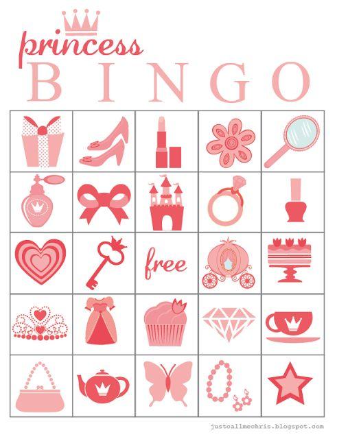 9 Images of Printable Princess Bingo