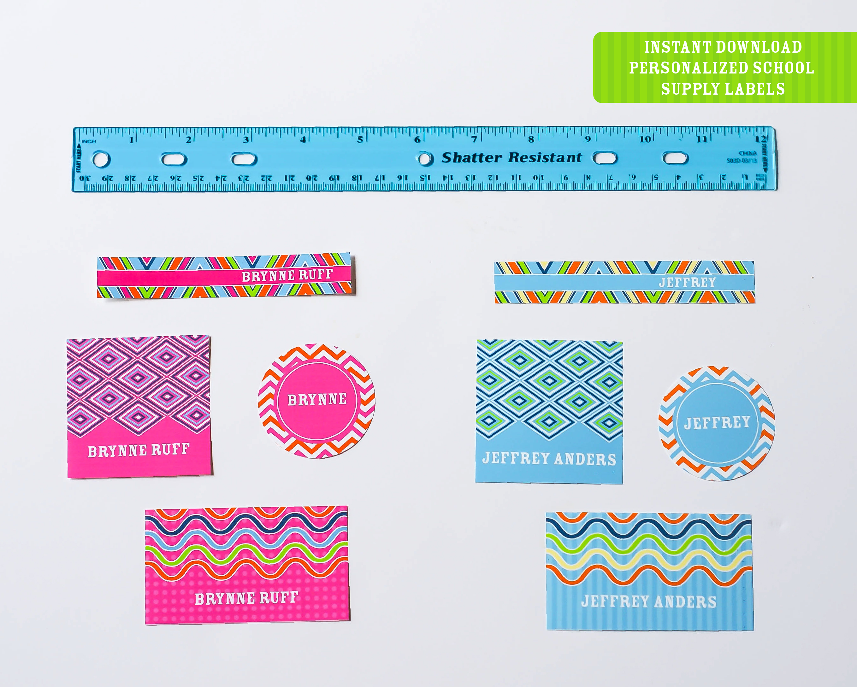 Printable School Supply Labels