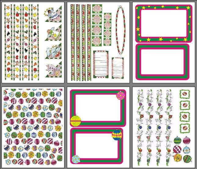 Free Printable Scrapbook Graphics for Christmas
