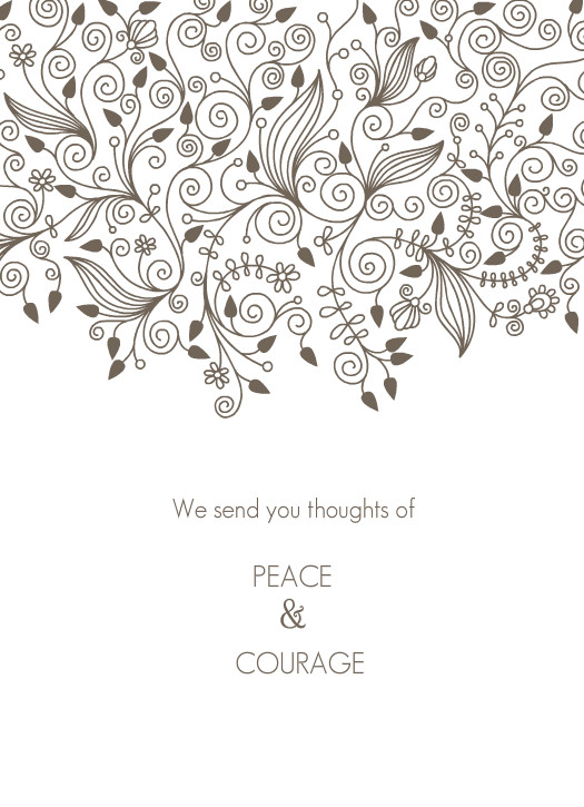 Intrepid image in free printable sympathy cards to color