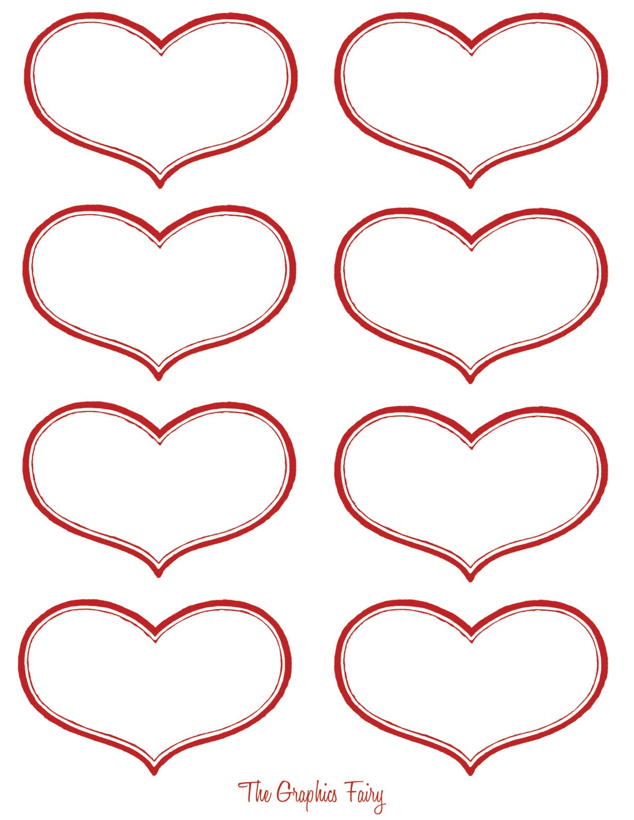 8 Images of The Heart Label Printables