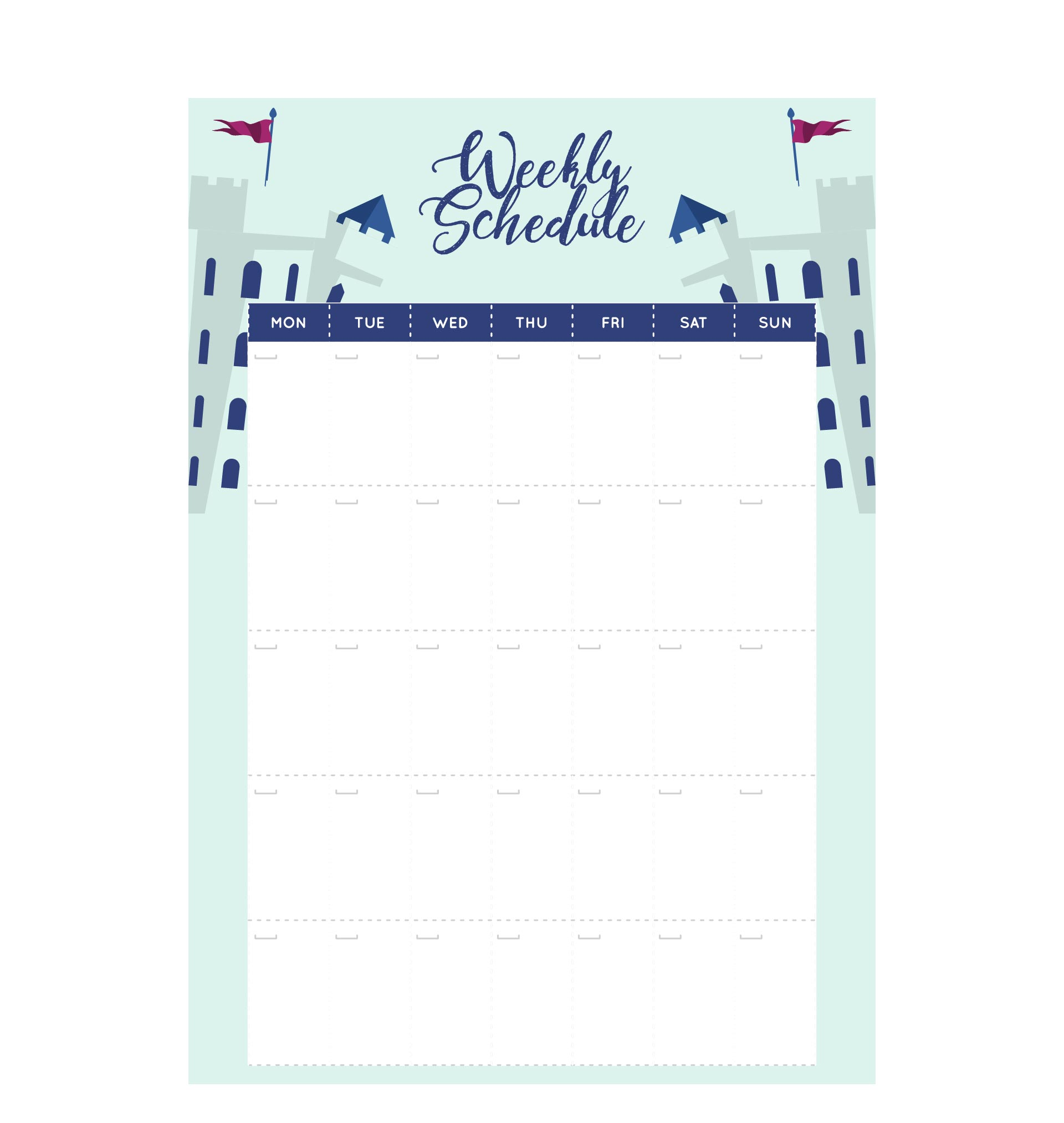 2 Week Daily Planner March 2017 Calendar – Monday to Sunday Schedule Template