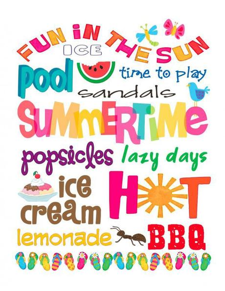 6 Images of Free Printable Summer Fun Clip Art