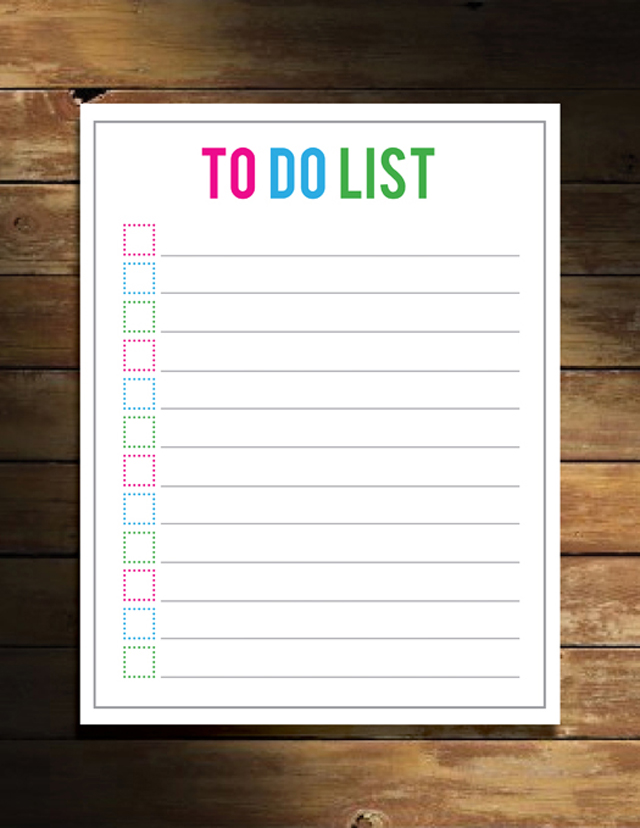 Free Things to Do List Printable