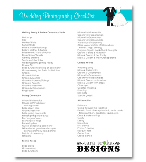 4 Images of Blank Printable Wedding Checklist