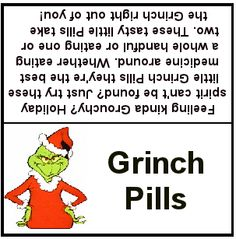 5 Images of Printable Grinch Pills Template
