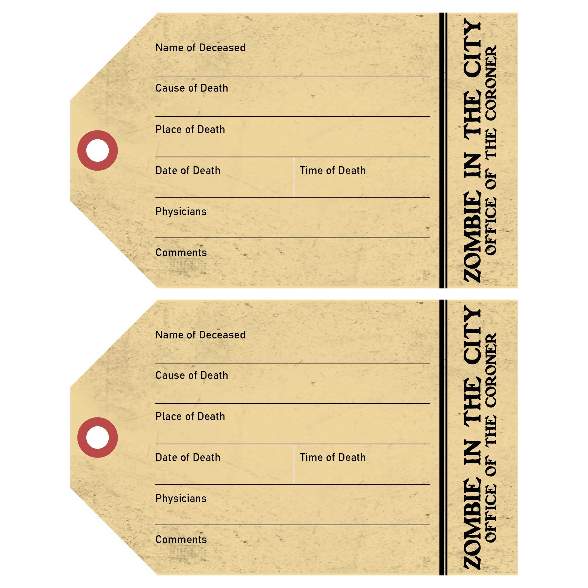 Halloween Party Toe Tag Invitations Printable