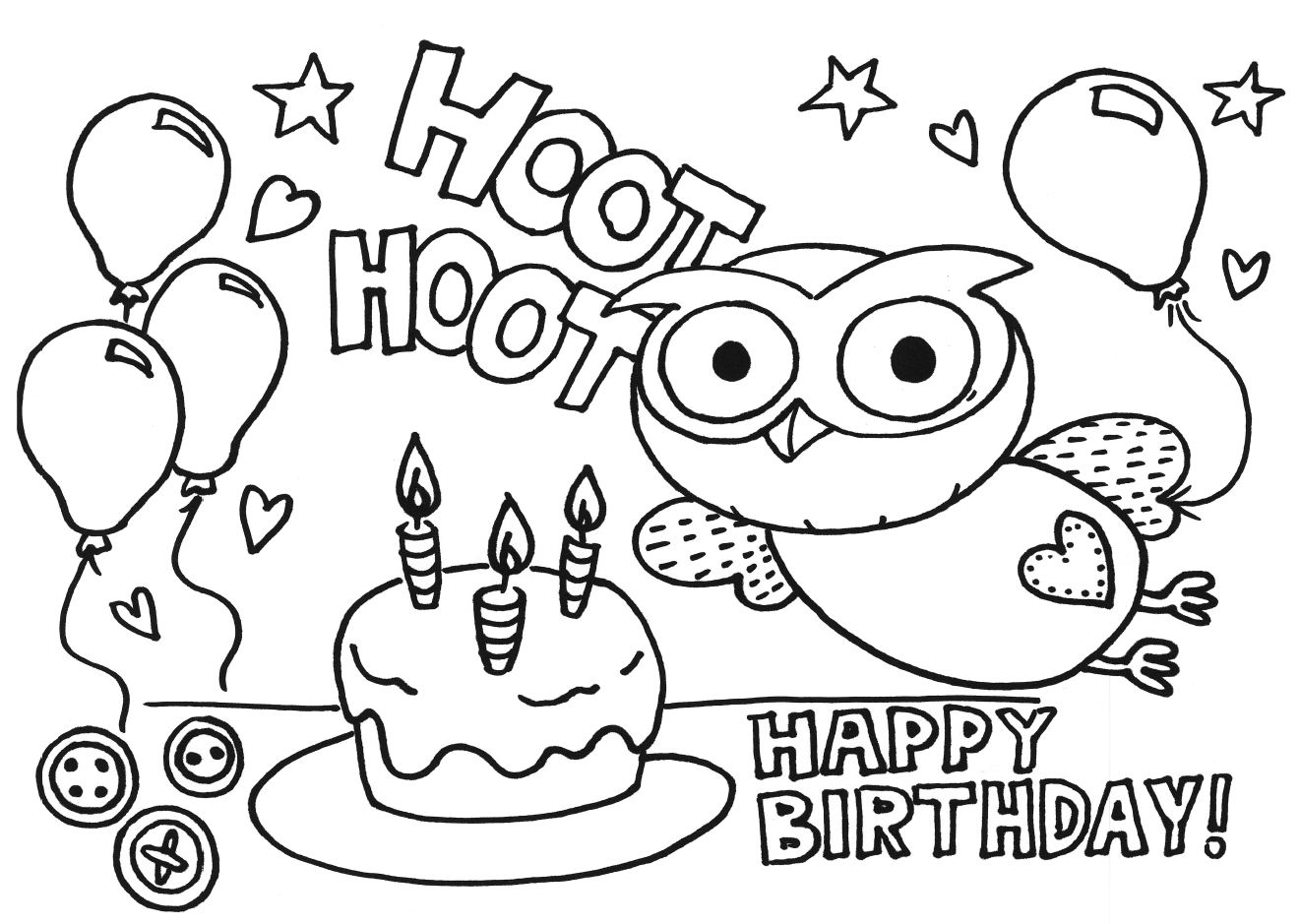 5 Images of Happy Birthday Coloring Printable