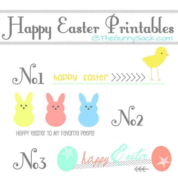 5 Images of Printable Happy Easter
