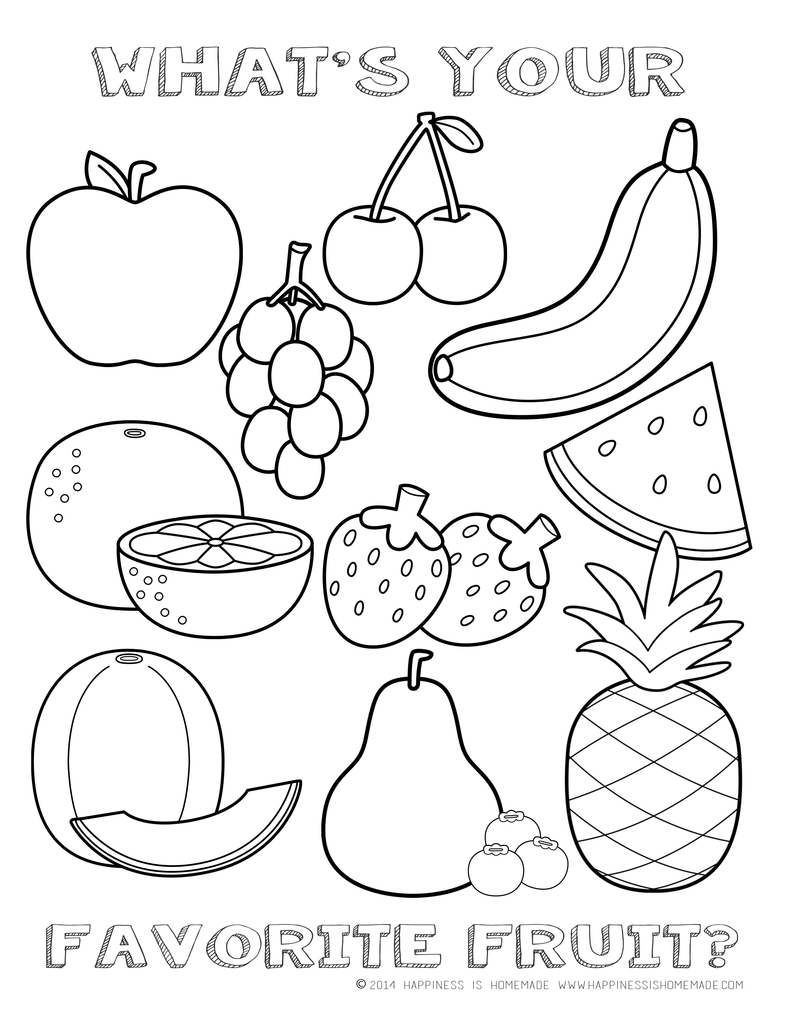 4 Images of Healthy Snacks Coloring Pages Printables