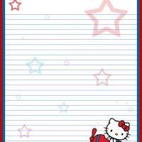 Hello Kitty Printable Writing Paper