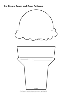 5 best images of ice cream printable pattern ice cream cone printable ice cream cone. Black Bedroom Furniture Sets. Home Design Ideas
