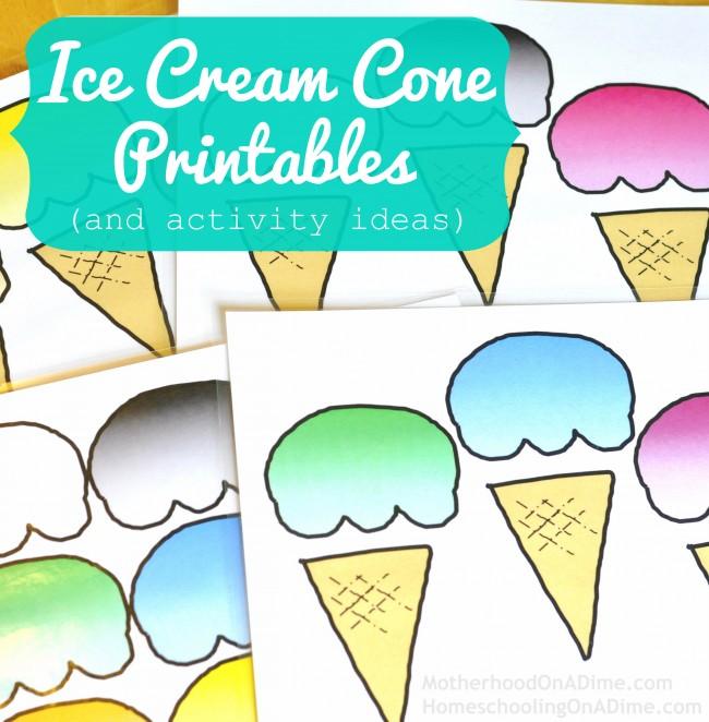 Ice Cream Cone Printables Free
