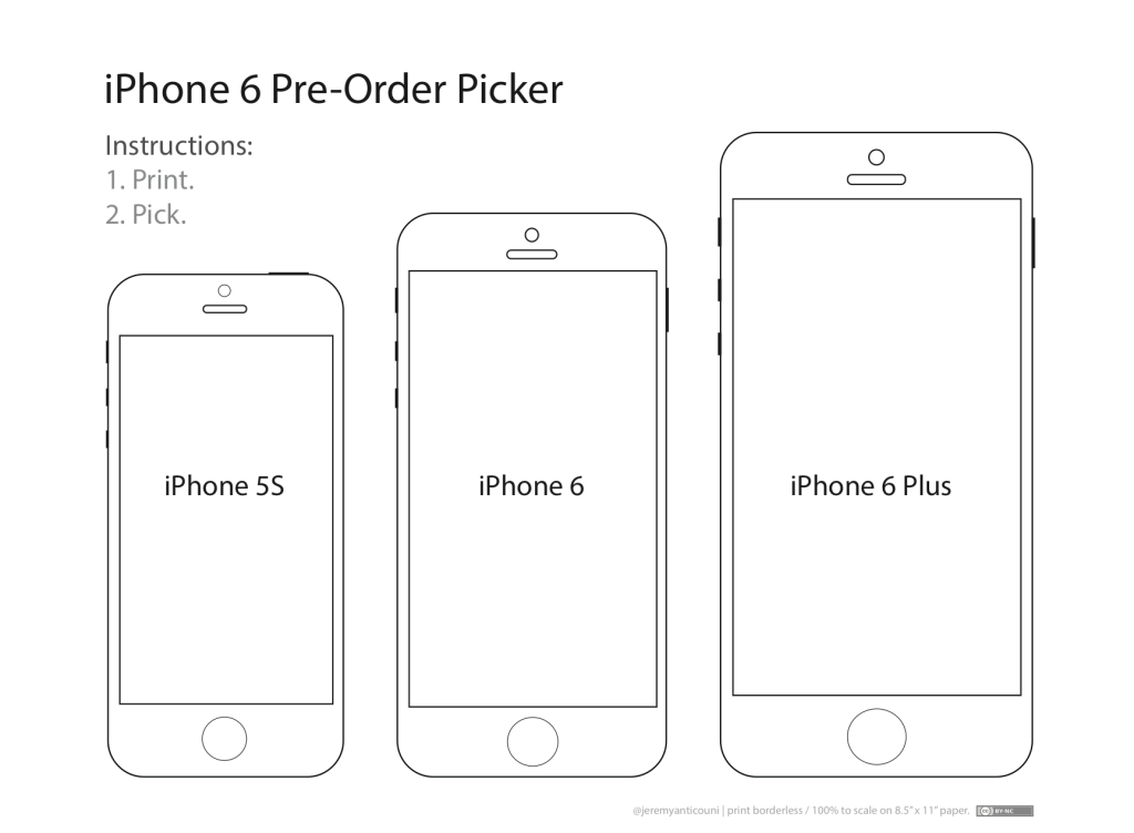 6 Images of IPhone 6 Printable Template
