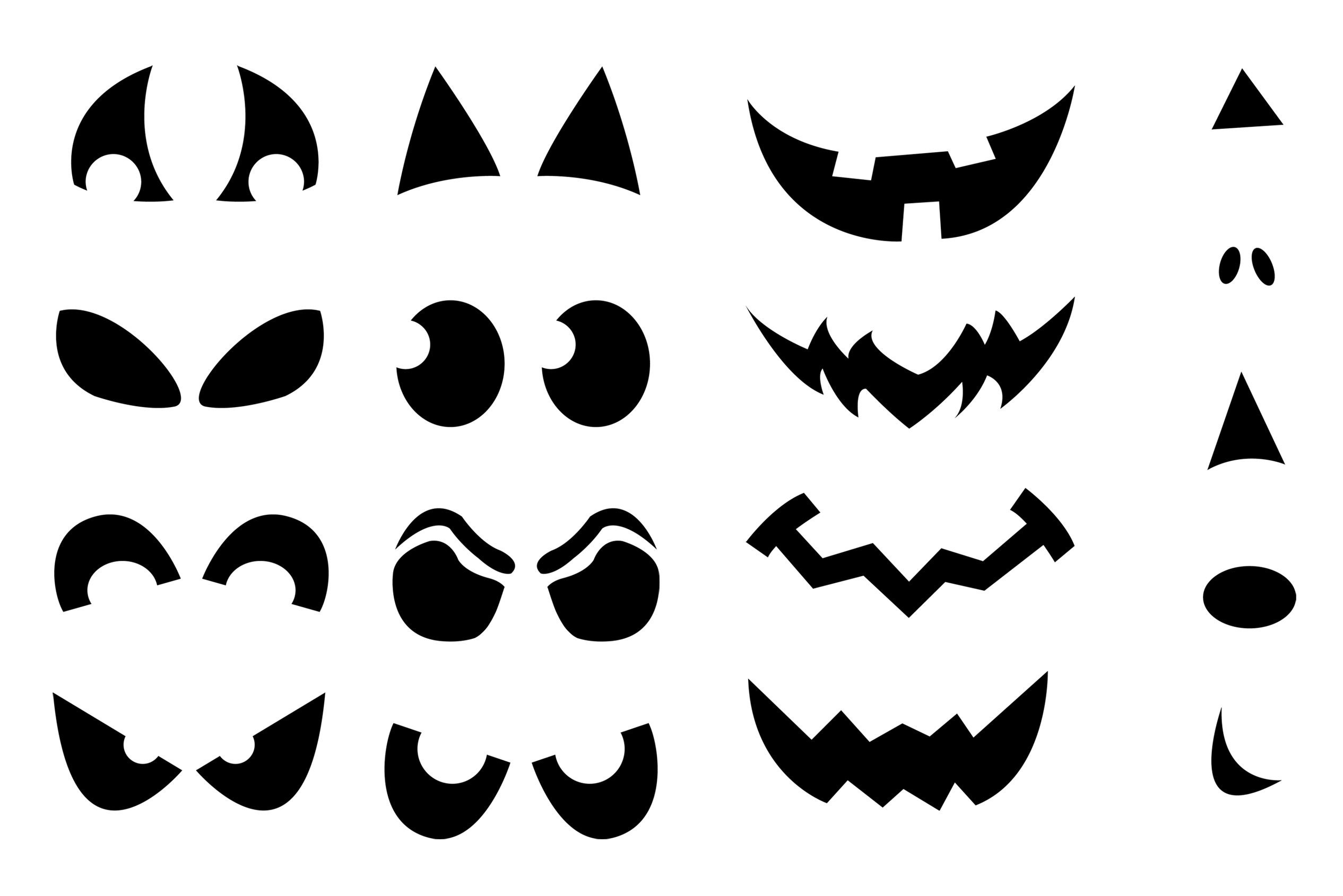 7 Images of Funny Ghost Face Parts Printable