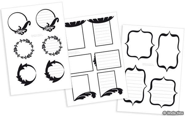 6 Best Images of Printable Journaling Card Shapes - Free ...