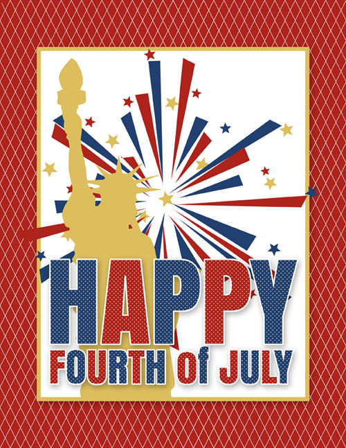 6 Images of Free Printable July 4th Signs