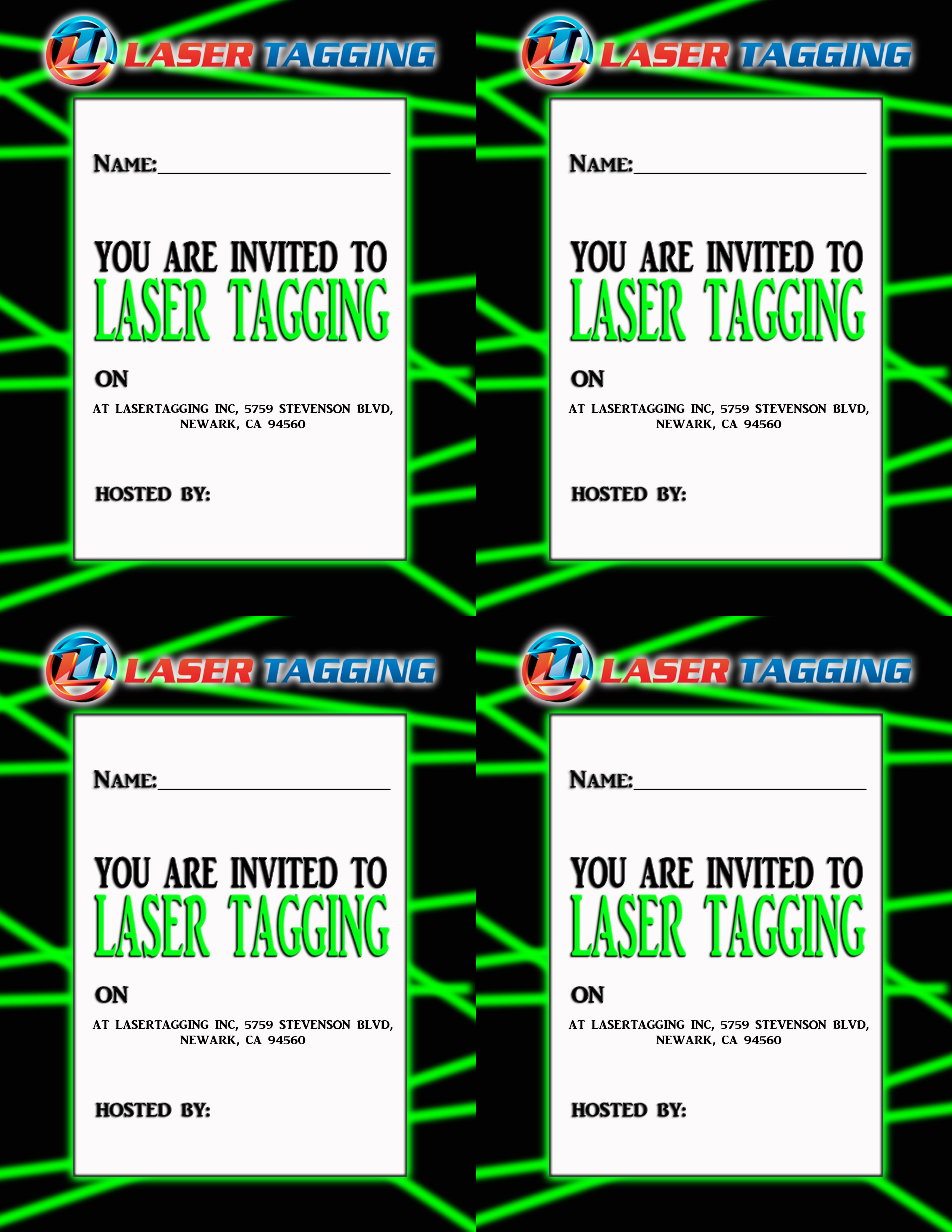 9 Images of Laser Tag Invitations Free Printable