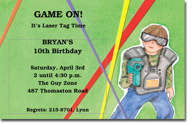 9 Best Images of Laser Tag Invitations Free Printable Laser Tag – Laser Tag Birthday Invitations Free