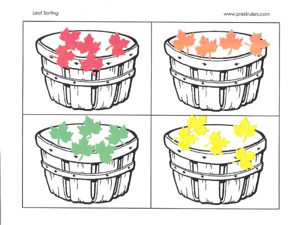 5 Images of Color Sorting Printables