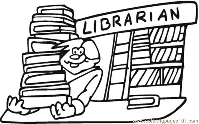 6 Images of Library Coloring Pages Printable