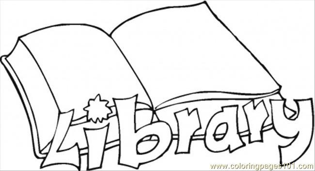 Library Related Coloring Pages