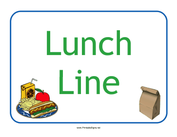 printable lunch break signs bigking keywords and pictures