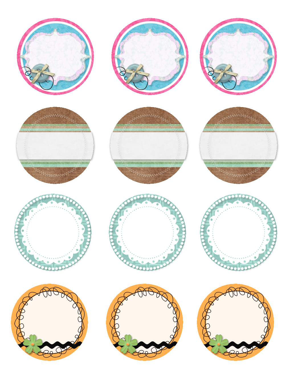 Mason Jar Lid Labels Printable