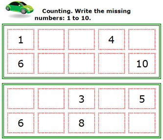 Common Worksheets » Number Worksheets For Kindergarten 1 20 ...