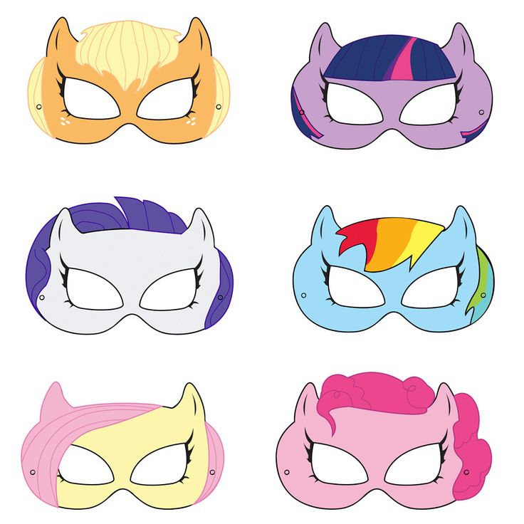 7 Images of My Little Pony Mask Printable