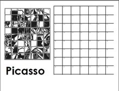 6 Images of Printable Mystery Grid Drawing For A Face