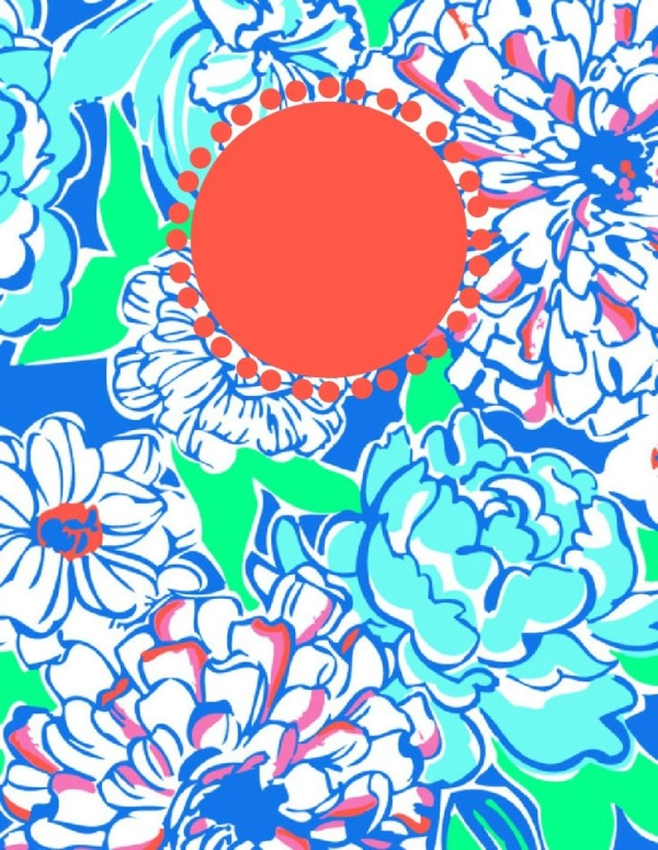 7 Images of Lilly Pulitzer Printable Binder Covers Blank