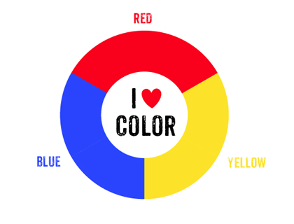 4 Images of Primary Color Wheel Printable