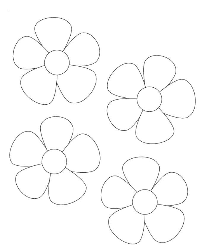 6 Images of Flowers Stencils Cutouts Printable