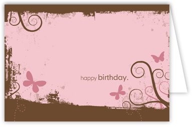 Printable Folding Birthday Cards Butterfly
