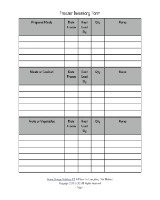Printable Food Storage Inventory Sheet